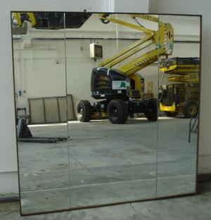 Specchio a Tre con Cornice in Legno