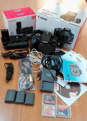 Canon 400D + Grip + 2 Batterie + Controllo remoto