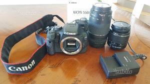 Canon eos 550d con obiettivi