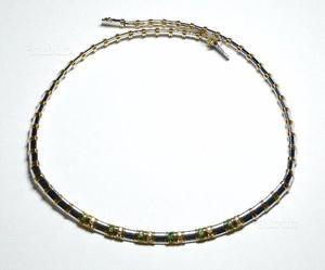 Collana oro 18 KT con brillanti e smeraldi (DESE)