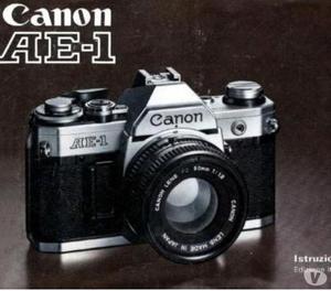 Libretto Istruzioni Canon AE AE1 AE1P A1 F1 Old F1 New