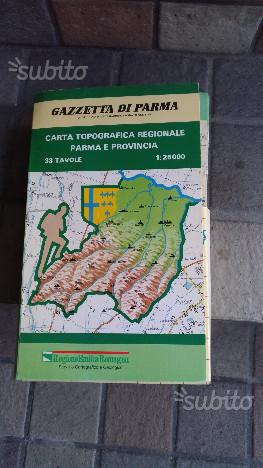 Carta topografica parma e provincia-- gazz. parma