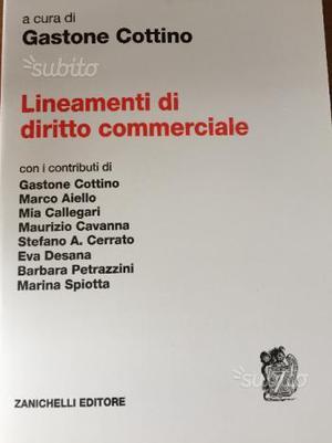 Lineamenti di diritto commerciale-Cottino