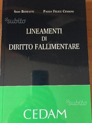 Lineamenti di diritto fallimentare-Bonfatti