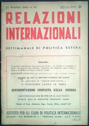 Rivista - Relazioni Internazionali