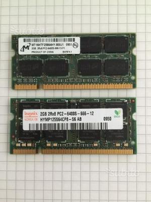 2 x SODIMM 2GB PCS 666MHz
