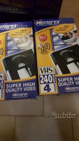 Due videocassette nuove da registrare