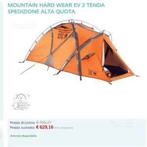 Tenda mountain hard wear eventi 2