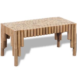 vidaXL Tavolino per caffè in legno di bambù