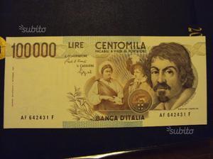 Carta moneta lire  caravggio 1 e 2