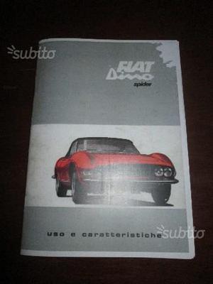 Fiat Dino Spider mot. Ferrari uso manutenzione