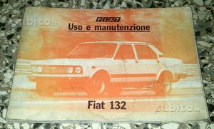 Manuale Uso e Manutenzione Fiat 132