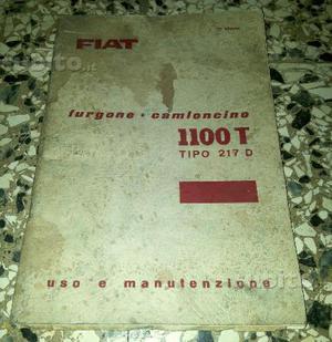 Manuale Uso e Manutenzione Fiat T Tipo 217D