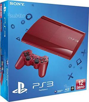 Sony PS3 Ultra Slim Rossa 500 Gb