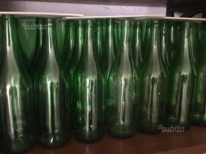 80 bottiglie vuote in vetro tappo corona
