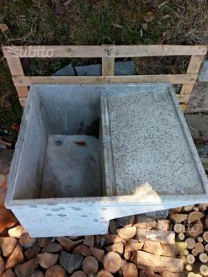 Lavandino acquaio in graniglia di marmo posot class - Lavandino esterno ...