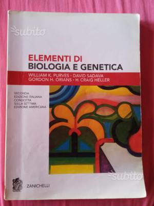 Libro testo di biologia e genetica