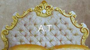 letto matrimoniale barocco oro foglia originale tavassi