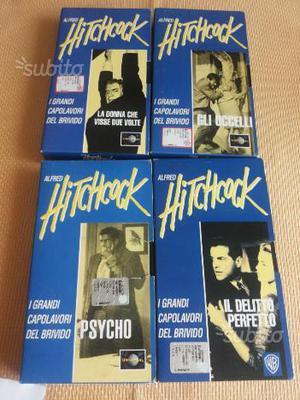 4 Vhs originali film di Hitchcock (Psycho e altri)