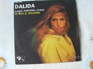 Disco vinile 45 giri di DALIDA in CIAO AMORE CIAO