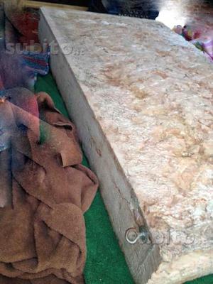 Lavabo antico, pietra marmo rosa di Asiago veneto