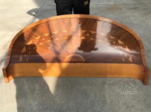 Letto in legno anni 60 posot class - Spalliere letto in legno ...