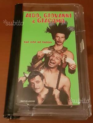 Tel Chi El Telun Aldo Giovanni e Giacomo VHS-LIBR