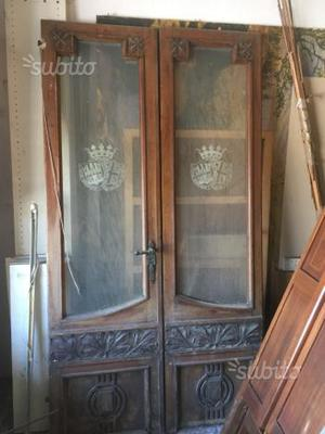 Porte originali anni 50 in legno e vetro posot class - Vecchie porte in legno ...