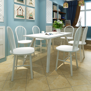 vidaXL Set 6 pz Sedia da tavola arrotondata in legno bianca