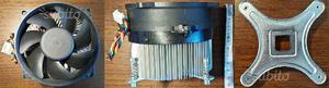 Dissipatore 775 con clip e supporto metallico per