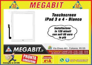 Touchscreen iPad 3-4 Bianco Alta Qualità