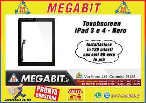 Touchscreen iPad 3-4 Nero Alta Qualità
