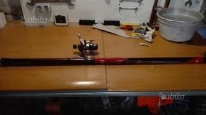 2 canne da pesca 6mt in fibra di carbonio