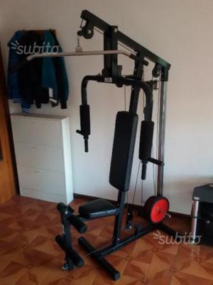 Panca attrezzata gambe e lat machine posot class - Panca scott a casa ...