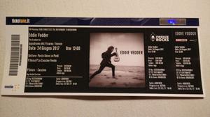 Biglietto concerto Firenze Eddie Vedder Cranberries Glen