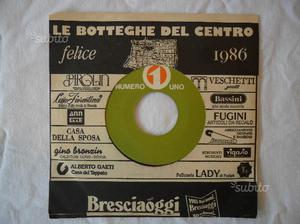 LP 45 giri Le botteghe del centro di Brescia