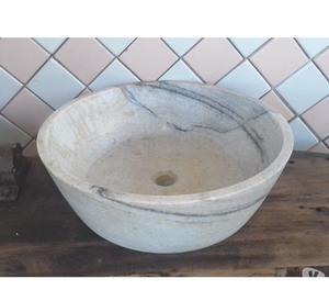 lavabo da appoggio in marmo