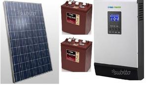 Fotovoltaico 500 W,inverter W accumulo 2,4 Kwh