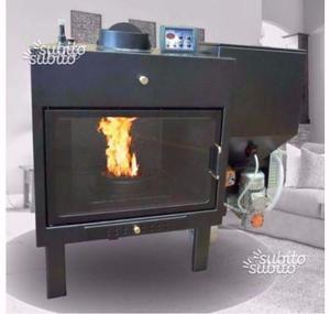 Inserto termocamino legna-pellet 24 kw