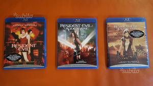 Trilogia resident evil in blu ray disc