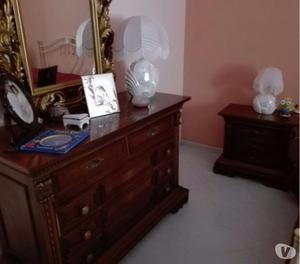 vendita camera da letto legno massello intarsiato