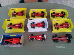 9 Modellini Ferrari F1 scala 1:24