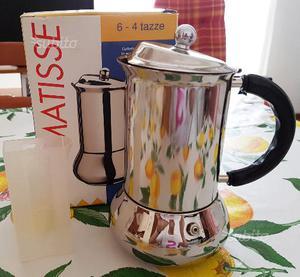Caffettiera espresso matisse 4/6 tazze inoxpran