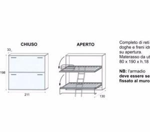 LETTO A SCOMPARSA A CASTELLO L.330 CM. MARTINO 330