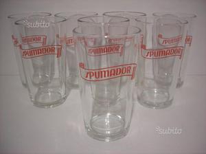 Spumadoro 8 bicchieri vintage bibita ' bar