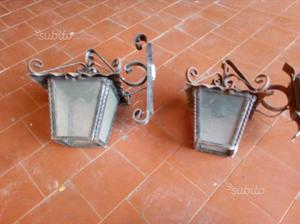 Lanterna a braccio da esterno in ferro battuto cm posot - Lampioni in ferro battuto da esterno ...