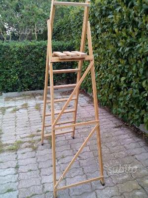 Scala in legno 6 gradini 1 pieghevole
