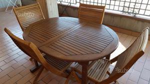 Tavolo e sedie da giardino o terrazzo regalo posot class for Sedie da terrazzo