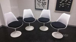 4 sedie Tulip Saarinen con cuscino imbottito nuove