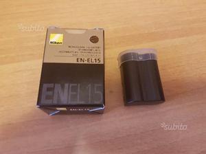 Batteria Nikon EN-EL15 come nuova in garanzia